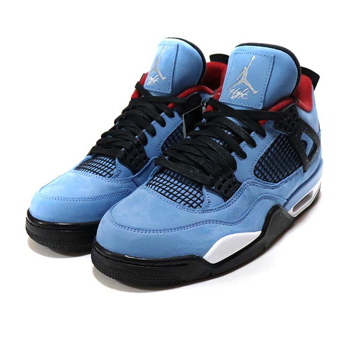 meilleur site web a889e 79fc4 Old and new things article with NIKE / Nike AIR JORDAN 4 RETRO TRAVIS  SCOTT/ Air Jordan 4 nostalgic Travis Scot UNIVERCITY BLUE / BLACK / BLEU ...
