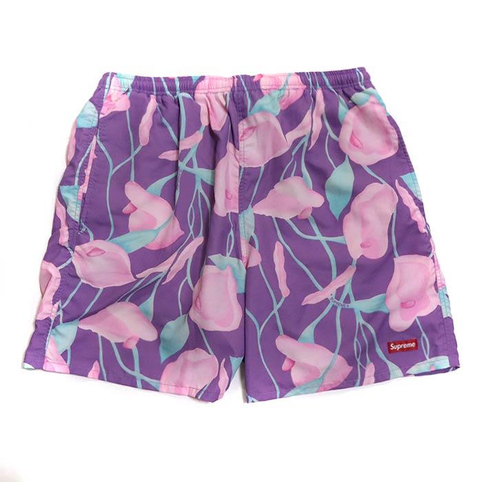 Supreme / シュプリームNylon Water Short/ ナイロン ウォーター ショーツ Purple Floral / パープルフローラル2018SS 正規品 新古品【中古】