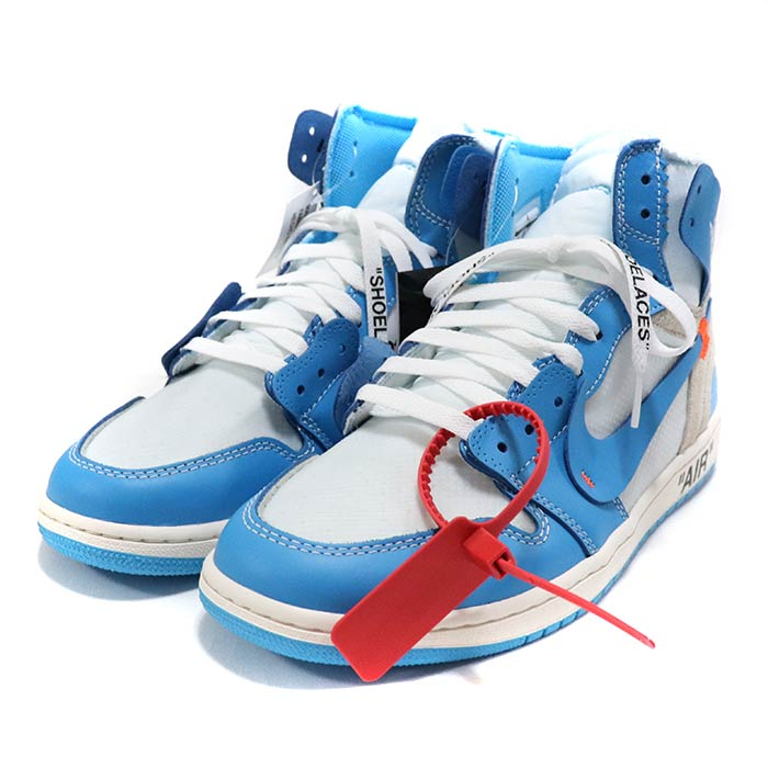low priced 1eee3 73c90 OFF-WHITE X NIKE / off-white x Nike AIR JORDAN 1 UNC / Air Jordan one  Powder Blue / powder blue blue / [AQ0818-148] domestic regular article old  and ...