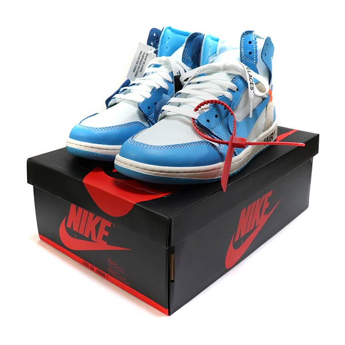 low priced 8e3f6 beeea OFF-WHITE X NIKE / off-white x Nike AIR JORDAN 1 UNC / Air Jordan one  Powder Blue / powder blue blue / [AQ0818-148] domestic regular article old  and ...
