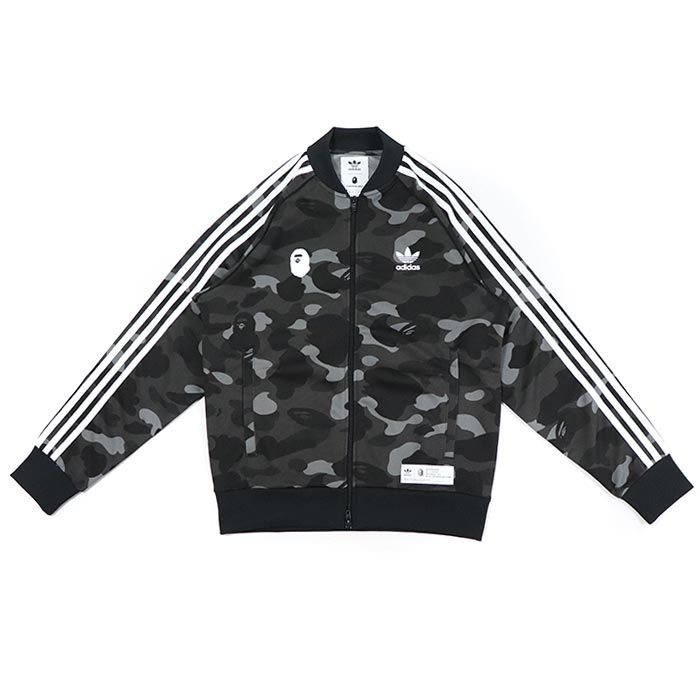 half off 920a0 5dc40 A BATHING APE BAPE x adidas / ベイシングエイプベイプアディダス CAMO JERSEY TOP / duck  jersey top CINDER BLACK / black black camouflage domestic regular article  old ...