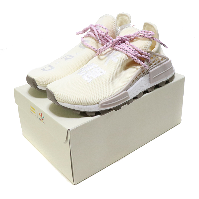 20d06d0fbd4fc Pharrell Williams X adidas Originals PW HU NMD NERD Cream White   Pink   EE8102 . DETAIL.