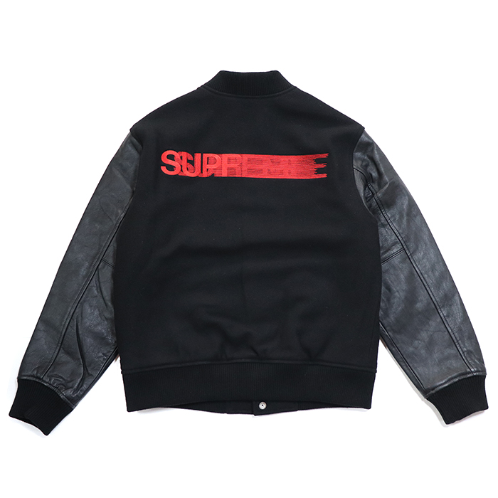 e56cb5d3b Supreme   シュプリーム Motion Logo Varsity Jacket   motion logo bar city jacket  Black   black black 2018AW domestic regular article old and new things ...