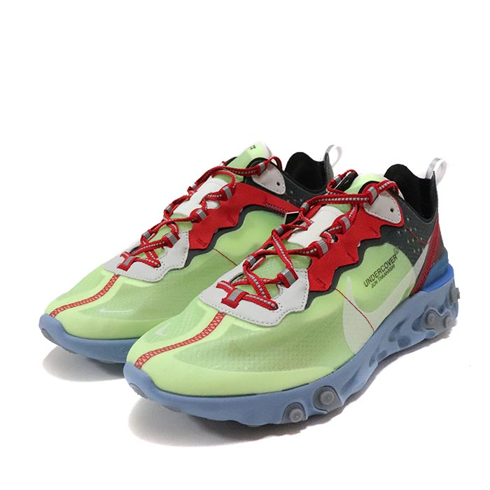los angeles 21771 8aebe 2018 UNDERCOVER X NIKE REACT ELEMENT 87. Volt  University Red  Black  White   BQ2718-700