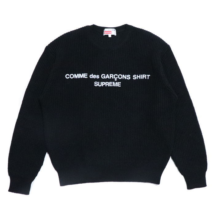 a8d6c48730c7 PALM NUT: Supreme X COMME des GARCONS SHIRT / シュプリームコムデギャルソン Sweater /  sweater Black / black black 2018AW domestic regular article old and new ...