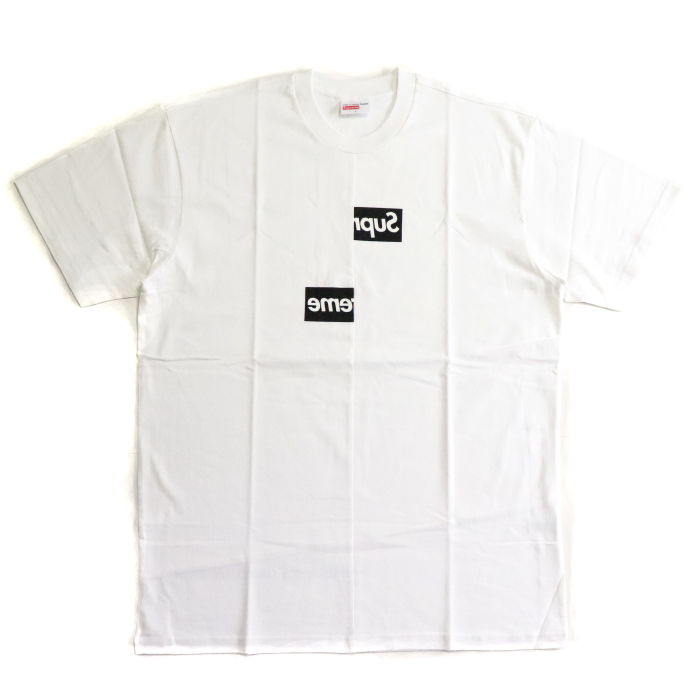 667433a27f12 PALM NUT: Supreme X COMME des GARCONS SHIRT / シュプリームコムデギャルソン Split Box Logo  Tee / split box logo T-shirt White / white white 2018AW domestic ...