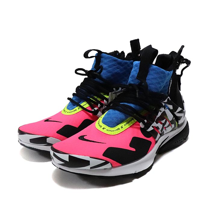 632cae48c622 ACRONYM X NIKE   アクロニウム x Nike AIR PRESTO MID   air presto mid Racer Pink   Black  Photo Blue  White   racer pink black photoblue white 2018AW  domestic ...