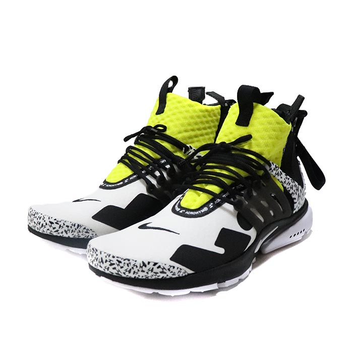 half off 39988 f1521 ACRONYM X NIKE  アクロニウム x Nike AIR PRESTO MID  air presto mid White Black  Dynamic Yellow  white black dynamic yellow 2018AW domestic regular ...