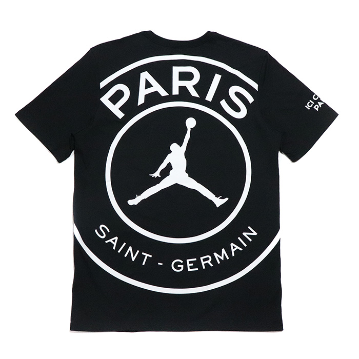 7f5a496c7 NIKE X Paris Saint-Germain   Nike Paris Saint-Germain Men s Logo T-Shirt    men logo T-shirt Black   black black 2018AW domestic regular article old  and new ...