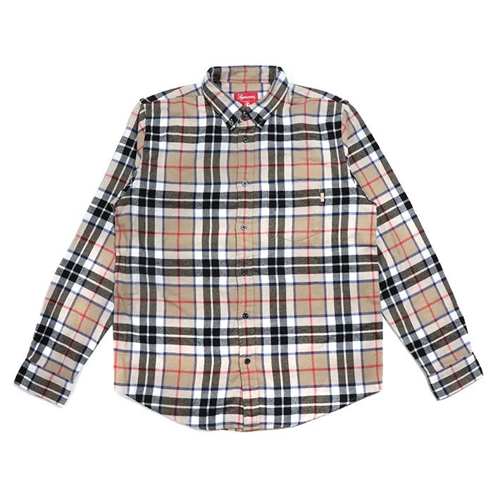 Supreme / シュプリームTartan L/S Flannel Shirt / タータン ロングスリーブ フランネル シャツTan / タン2018AW 国内正規品 新古品【中古】