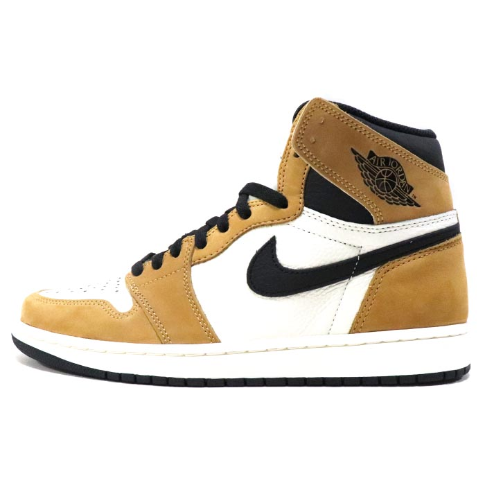 2018 NIKE   Nike AIR JORDAN 1 RETRO HIGH OG WHEAT   Air Jordan 1 レトロハイウィート  Gold Harvest Black  gold her best black domestic regular article old and ... a2addf185