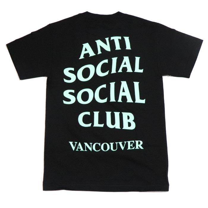 ANTI SOCIAL SOCIAL CLUB / アンチ ソーシャル ソーシャル クラブVANCOUVER BLACK TEE / バンクーバー ブラック TシャツBLACK / ブラック 黒2018AW ASSC 正規品 新古品【中古】