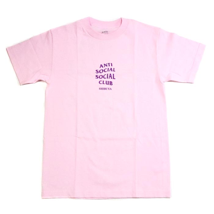 c469624f10f2 ANTI SOCIAL SOCIAL CLUB   antisocial social club SHIBUYA PINK TEE   Shibuya  pink T-shirt PINK   pink peach 2018AW ASSC regular article old and new  things ...