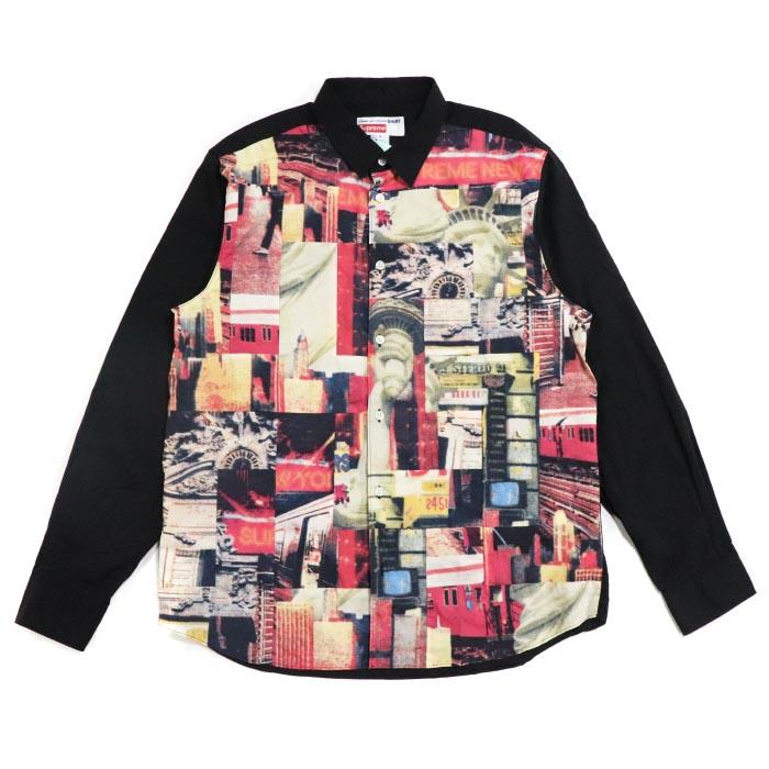 Supreme × COMME des GARCONS SHIRT / シュプリーム コムデ ギャルソンCotton Patchwork Button Up Shirt / コットン パッチワーク ボタン アップ シャツMulticolor / マルチカラー2018AW 国内正規品 新古品【中古】