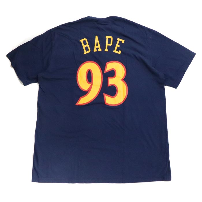 newest e2b98 b04a9 A BATHING APE BAPE / ベイシングエイプベイプ WARRIORS TEE / オリアーズ T-shirt NAVY / navy  dark blue NBA 2018AW domestic regular article old and new things product