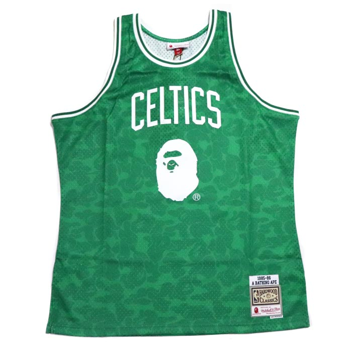 6f6e6506 2018AW A BATHING APE BAPE CELTICS ABC BASKETBALL SWINGMAN JERSEY TANKTOP  GREEN