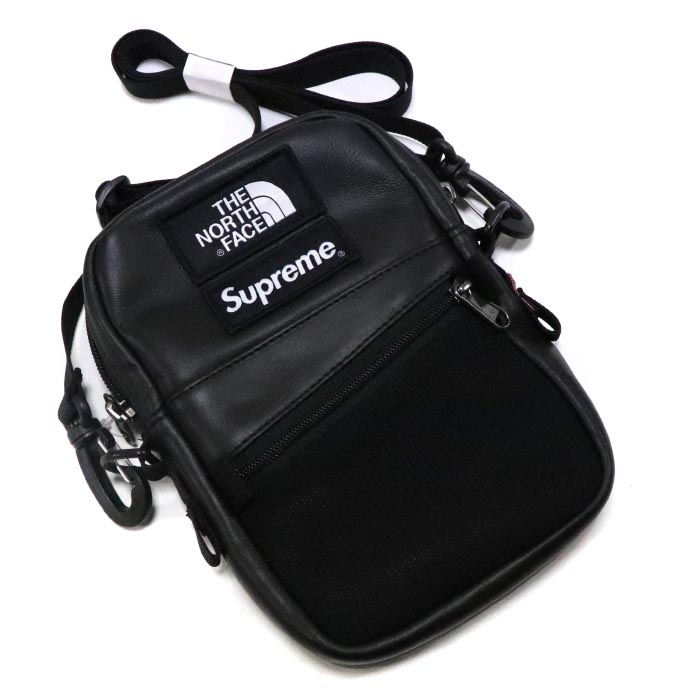 feb229888 Supreme X The North Face / シュプリーム X ザノースフェイス Leather Shoulder Bag / leather  shoulder bag Black / black black 2018AW ...