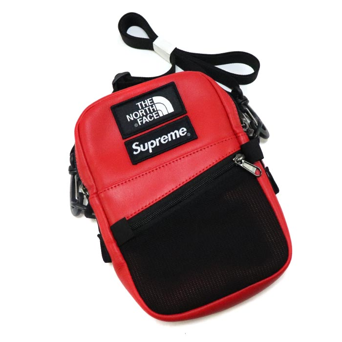 a38ff1a6a Supreme X The North Face / シュプリーム X ザノースフェイス Leather Shoulder Bag / leather  shoulder bag Red / red red 2018AW domestic regular article old and new ...