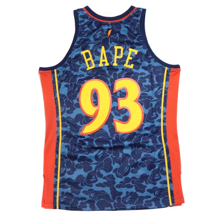 huge selection of 47636 56dcd A BATHING APE BAPE / ベイシングエイプベイプ WARRIORS ABC BASKETBALL SWINGMAN JERSEY  TANKTOP / オリアーズエービーシーバスケットボールスウィングマンジャージータンクトップ NAVY / navy dark blue NBA  ...