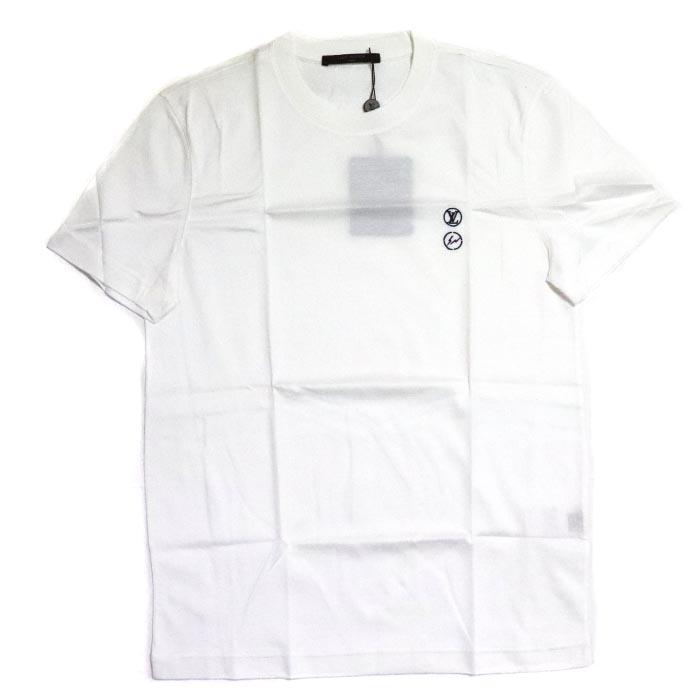 Fragment Design × LOUIS VUITTON / フラグメント デザイン ルイ・ヴィトンCrewneck T-Shirt / クルーネック TシャツWhite / ホワイト 白 表参道限定2017SS 国内正規品 新古品【中古】