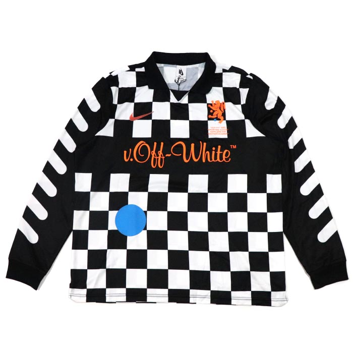 promo code 40ffe 2ee05 OFF-WHITE X NIKE off-white x Nike Football Jersey / guernsey Longus Reeve  Black / black black 2018SS regular article old and new things product