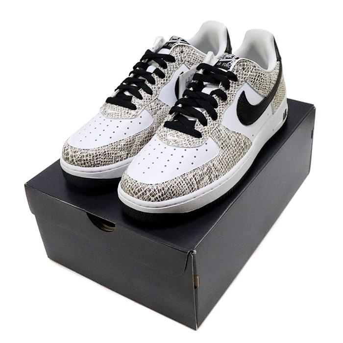 2018 NIKE Nike AIR FORCE 1 LOW RETRO COCOA SNAKE air force 1 low nostalgic cocoa snake True WhiteBlack Cocoa toe roux white black cocoa domestic