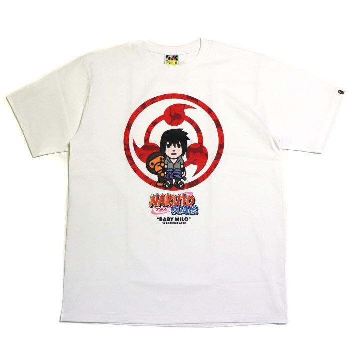 3cdfffc7 PALM NUT: BAPE / A BATHING APE X NARUTO & BORUTO / ベイプベイシングエイプ x naruto  and bolt MILO TEE #2 Sasuke / milo T-shirt Sasuke WHITE / white white ...