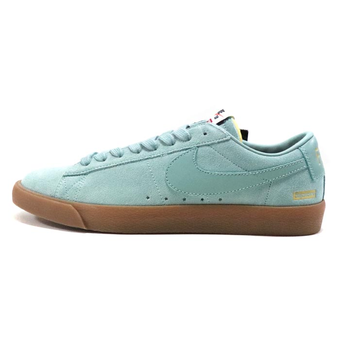 new style afabe d76eb Old and new things article with Supreme X NIKE SB / シュプリーム X Nike SB BLAZER  LOW GT QS / blazer low Teal / Tyr blue 2016AW domestic regular article tag