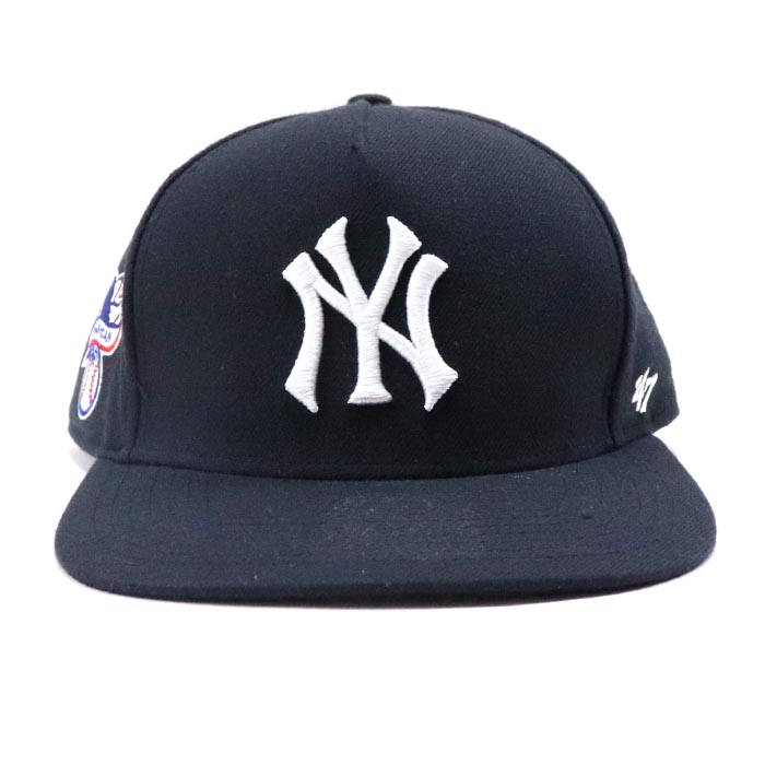 9c5be1df029 2015SS Supreme x. New York Yankees x 47 Brand 5-Panel Snapback Cap Navy
