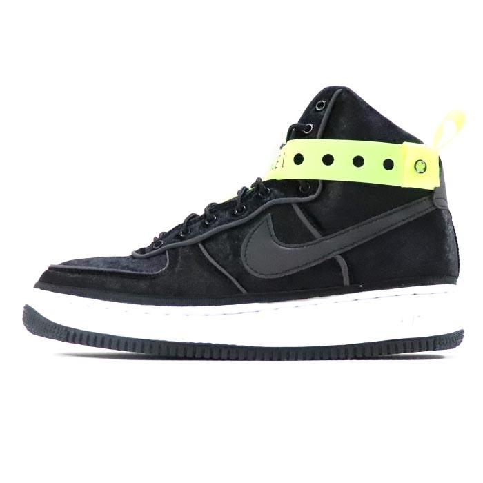 buy online d2a46 43967 MAGIC STICK X NIKE/ magic stick Nike AIR FORCE 1 HIGH VELVET VIP / air  force one high velvet buoy eye P Velour Black/White/Volt / velour black  white ...
