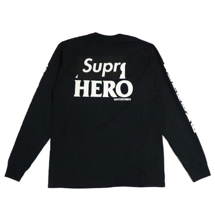 Supreme × ANTIHERO / シュプリーム アンタイヒーローL/S Logo Tee /ロングスリーブ ロゴ TシャツBlack / ブラック 黒2014SS 国内正規品 新古品【中古】