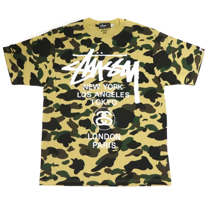 bdc6ed43 PALM NUT: Monkey camouflage pattern world tour T-shirt domestic regular  article old and new things product of the 30th anniversary of BAPE / A BATHING  APE X ...