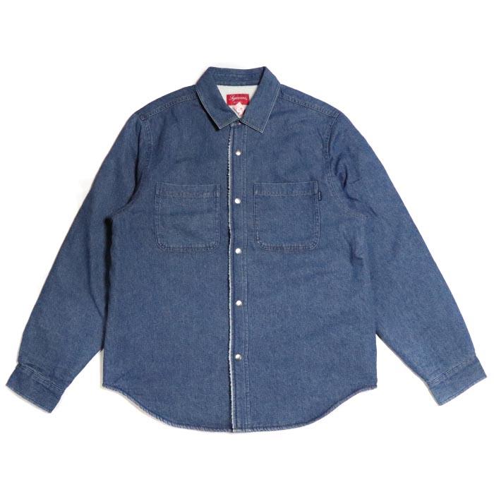 Supreme / シュプリームSherpa Lined Denim Shirt/シェルパ ラインド デニム シャツBlue / ブルー 青2018AW 国内正規品 新古品【中古】