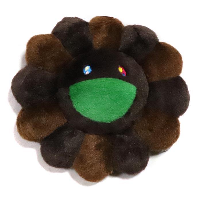 村上隆/ TAKASHI MURAKAMI Flower Cushion /お花 クッション Brown / ブラウン 茶30cmサイズKaikai Kiki 2018AW 国内正規品 新古品【中古】