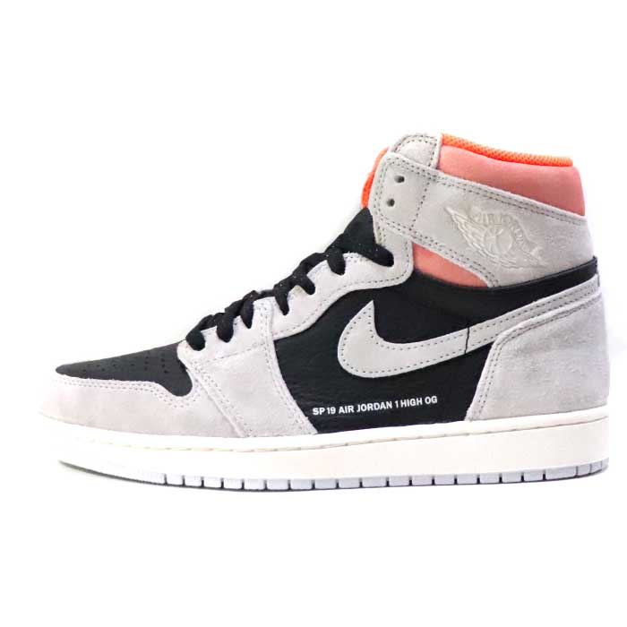 85c8137ec9f4 2019 NIKE AIR JORDAN 1 RETRO HIGH OG NEUTRAL GREY HYPER CRIMSON WHITE-BLACK   555