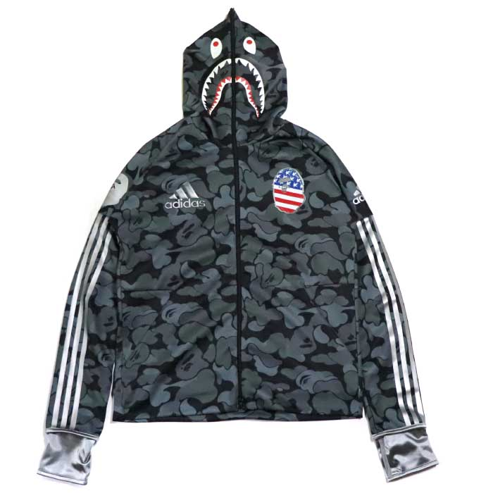 sale retailer e635d 82ce5 A BATHING APE BAPE x adidas / ベイシングエイプベイプアディダス SHARK HOODIE / シャークフーディパーカー  BLACK / black black 2019SS domestic regular article old and new things ...