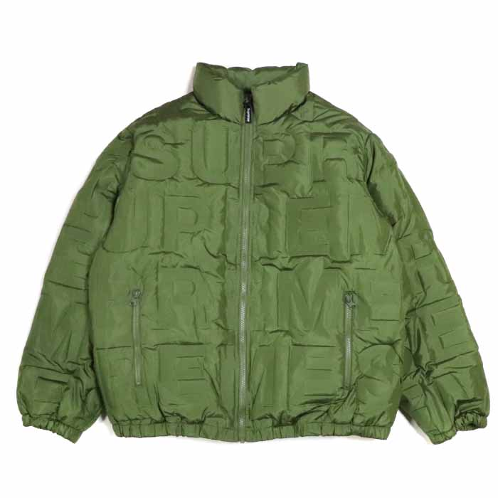 Supreme / シュプリームBonded Logo Puffy Jacket / ボンデッド ロゴ パフィー ジャケットOlive / オリーブ カーキ グリーン2019SS 国内正規品 新古品【中古】