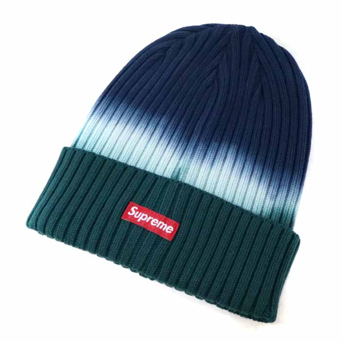 e8015684a Supreme / シュプリーム Overdyed Beanie / over die dobby knee knit hat Navy / navy  dark blue tie-dyeing 2019SS domestic regular article old and ...