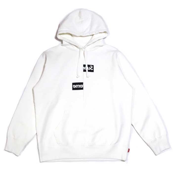 79b87e1a2d5f PALM NUT: Supreme X COMME des GARCONS SHIRT / シュプリームコムデギャルソン Split Box Logo  Hooded Sweatshirt / split box logo hooded sweat shirt parka White ...