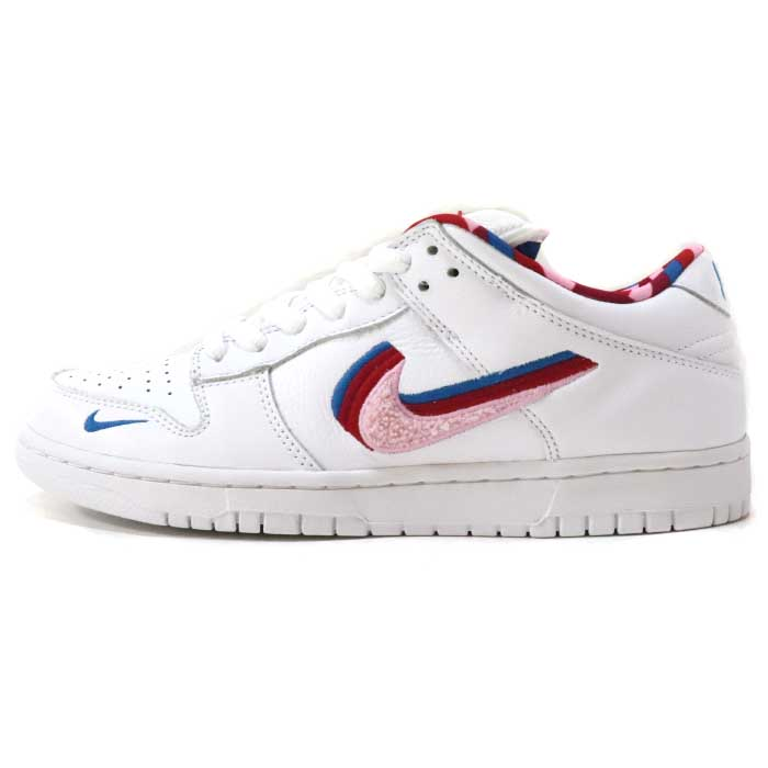 new arrive first rate separation shoes Piet Parra X NIKE SB/ パイエットパーラナイキエスビー DUNK LOW / dunk low WHITE/PINK  RISE0GYM RED0MILITARY BLUE 2019 domestic regular article old and new things  ...