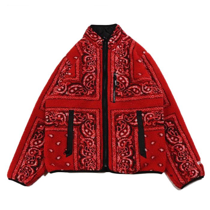 Supreme シュプリームReversible Bandana Fleece Jacket リバーシブル バンダナ 新古品 豪華な 大決算セール レッド ジャケットRed 赤2019AW フリース 国内正規品 中古