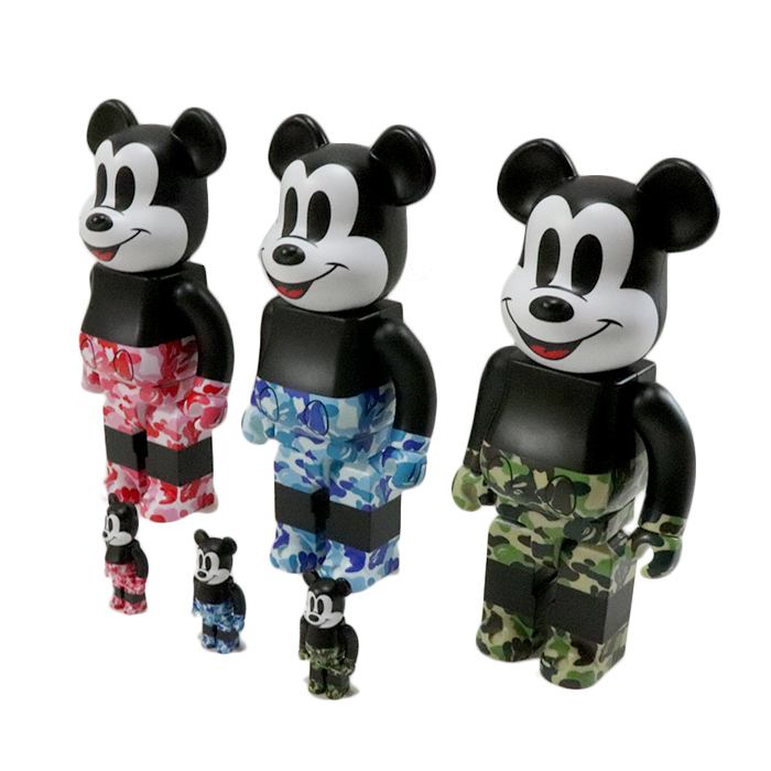 100/% Set Bearbrick Green New ** A BATHING APE × BEARBRICK x MICKEY MOUSE 400/%