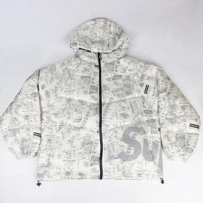 2020AW Supreme シュプリーム Hooded Down Jacket Receipts タグ付き 信用 中古 ダウンジャケット 新古品 ※アウトレット品 レシート 国内正規品