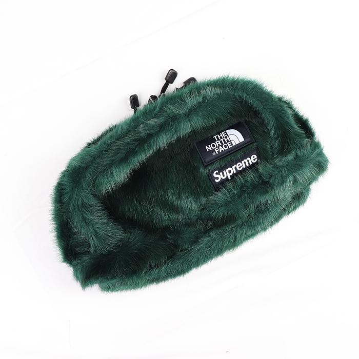 Supreme x THE NORTH FACE シュプリーム ザ ノースフェイスFaux Fur Waist Bag バッグ 中古 緑2020FW 新古品 ファー タグ付き グリーン ウエスト 激安価格と即納で通信販売 国内正規品 フォックス Green キャンペーンもお見逃しなく