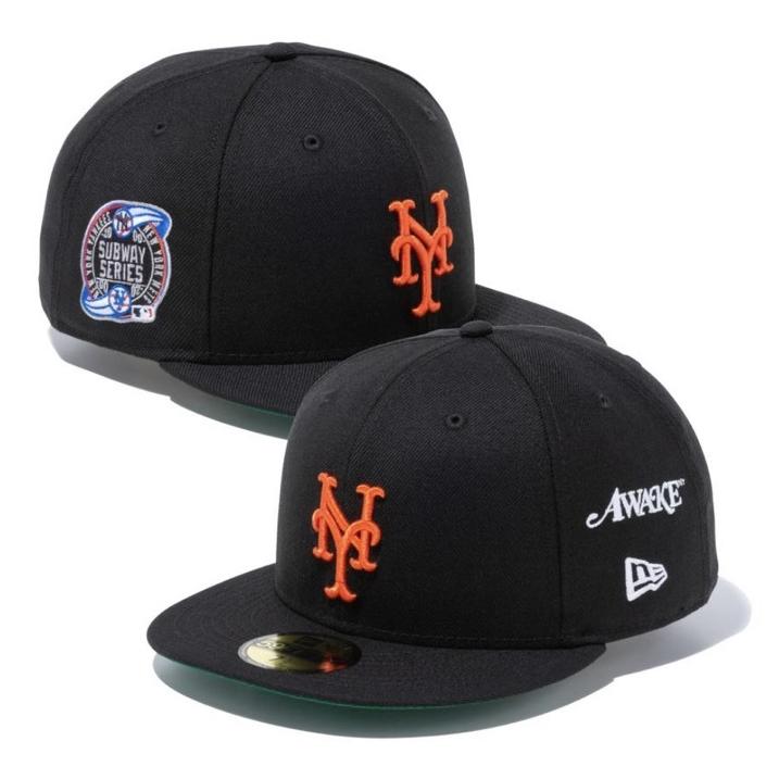 AWAKE NY × New Era アウェイク ニューエラNew York Mets Subway ショップ Series 59FIFTY 新古品 ブラック キャップBlack 国内正規品 シリーズ Cap サブウェイ メッツ 黒2021 ニューヨーク 中古 レビューを書けば送料当店負担
