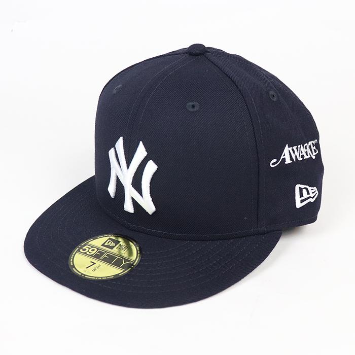 AWAKE NY 早割クーポン × New Era アウェイク ニューエラNew York Yankees Subway Series シリーズ ニューヨーク 国内正規品 本店 59FIFTY Cap ヤンキース サブウェイ 中古 ネイビー2021 新古品 キャップNavy