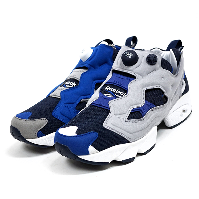 BEAMS×Reebok CLASSIC   beams x Reebok INSTA PUMP FURY   insta pump fury  Navy   Navy BEAMS 40 anniversary limited edition men s left and right  asymmetric ... 2a03a6cc1a