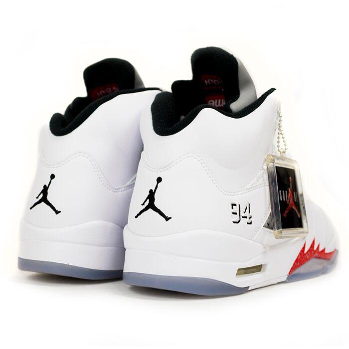quality design c8332 8706c Supreme×Nike / Supreme x Nike AIR JORDAN 5 RETRO and Air Jordan 5 retro  WHITE / white white 824371-101 Nos new old stock