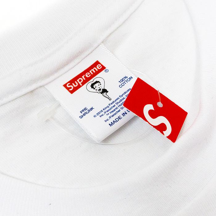 有Supreme/shupurimu Betty Boop Tee/betibupu T恤White白16SS國內正規的物品標簽新古董
