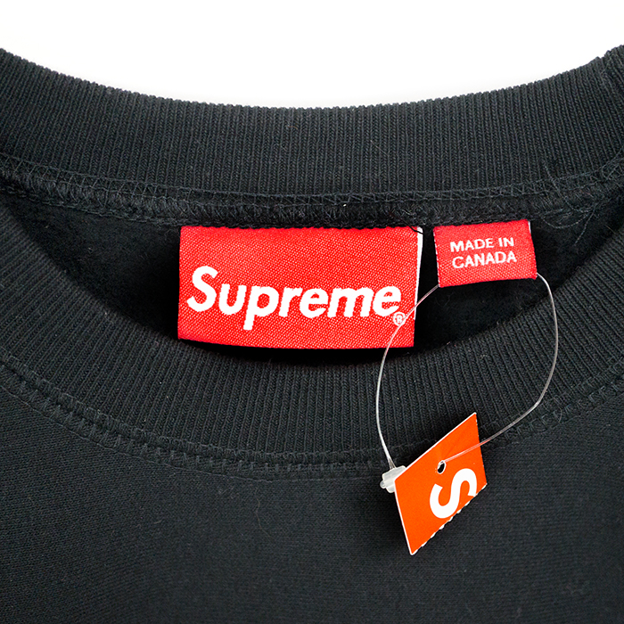 Supreme / Supreme Box Logo Crewneck / box logo crewneck sweat Black / Black Black 15 FW genuine tagged pre-owned domestic